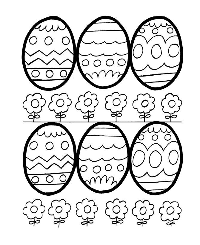 Easter Coloring Pages Eggs And Flowers Easter Egg Coloring Pages Coloring Easter Eggs Easter Colouring