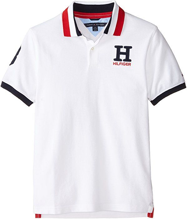 4c93054d Amazon.com: Tommy Hilfiger Little Boys' Toddler Short Sleeve Matt Polo  Shirt, White, 3T: Clothing