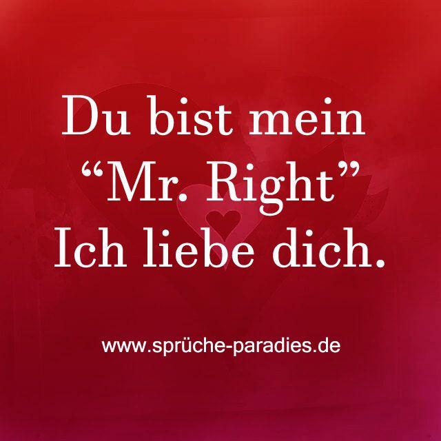 """Du bist mein """"Mr Right"""" Ich liebe dich...Mrs. Right"""