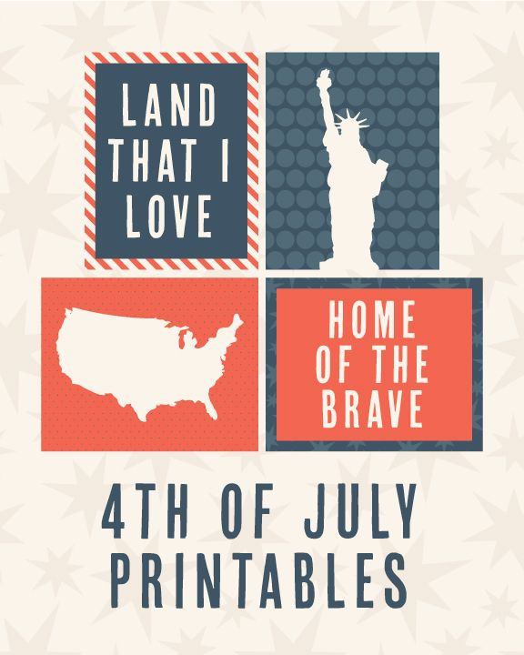 4th of July project life journaling cards, freebie free printables for independence day.