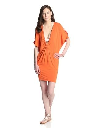 58% OFF Trina Turk Women's Nomad Solid Cover Up (Tangerine)