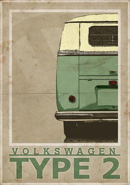 Volkswagen tipo 2 furgoneta de pantalla dividida / Bus por 3ftDeep