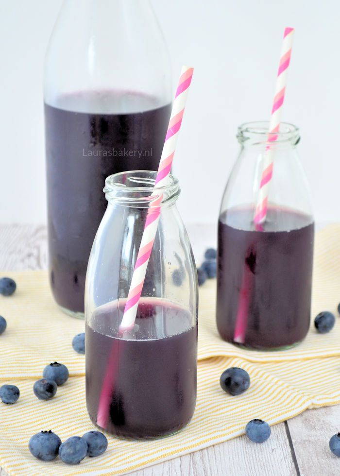 blueberry ice tea - blauwe bessen ijsthee - Laura's Bakery