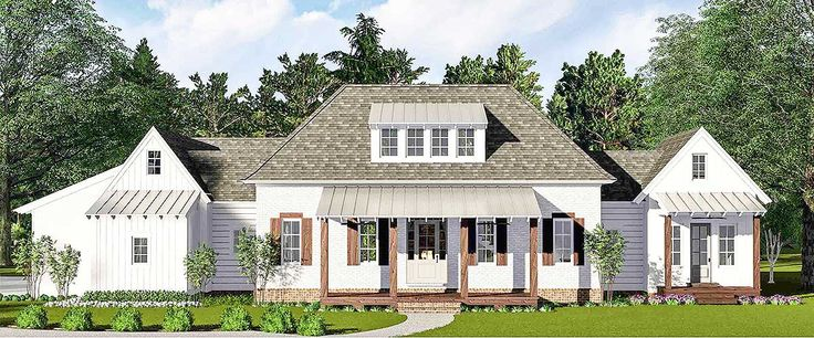 Chic Country Farmhouse - 510021WDY | Architectural Designs - House Plans