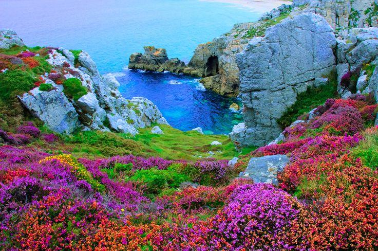 Presqu'ile de Crozon, Finistère.  Bretagne