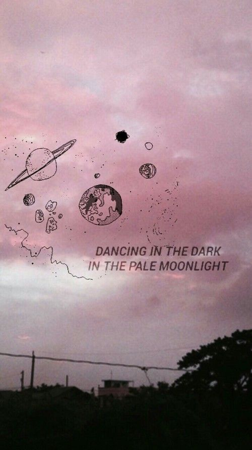 Dancing in the dark in the pale moonlight