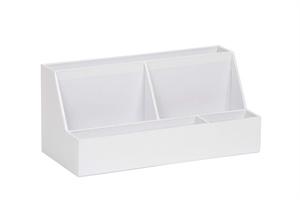 Cache Desk Organiser Leatherette White