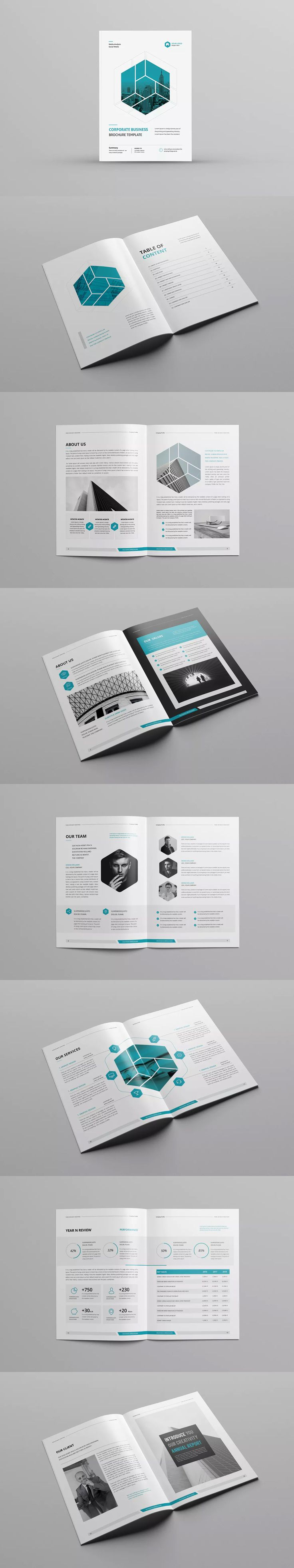 Company Profile Template InDesign INDD - A4