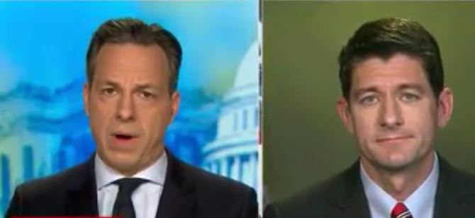 Jake Tapper Drops A Reality Bomb On Paul Ryan: Millions Are Terrified Of Trump's Presidency