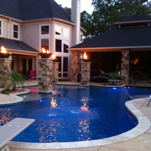 94 best images about my crib on pinterest mansions for Pool and patio designs