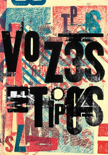 vozes em tipos 2015 poster by marcos faunner