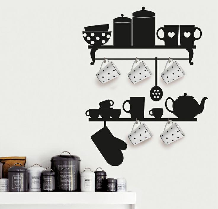"""KITCHEN DECO http://www.myvinilo.com/vinilos-decorativos-cocina/kitchen-deco.html La decoración más """"real"""" para tu cocina. Vinilos decorativos, hogar, decoración, interiores, pared, diseño, cocina, wall decals, stickers, decoration, design, kitchen, herbs, home, nevera, fridge."""