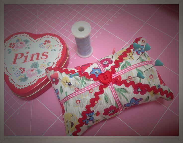 Cath Kidston fabric pincushion by Lizzyshomemade on Etsy