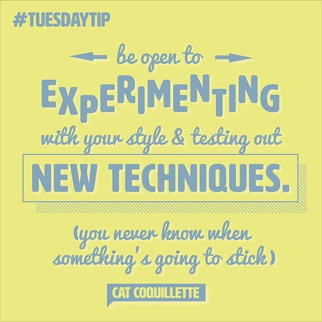 It's always worth venturing out of your creative comfort zone, as Cat Coquillette proves with her #TuesdayTip! #illustration #design #illustrator #creative #greetingcards #typography