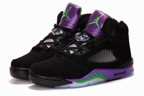 Air Jordan 5 Retro Black/New Emerald - Grape Ice - Black