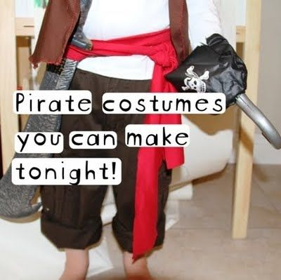Eli's Lids: Simple Pirate Costumes!