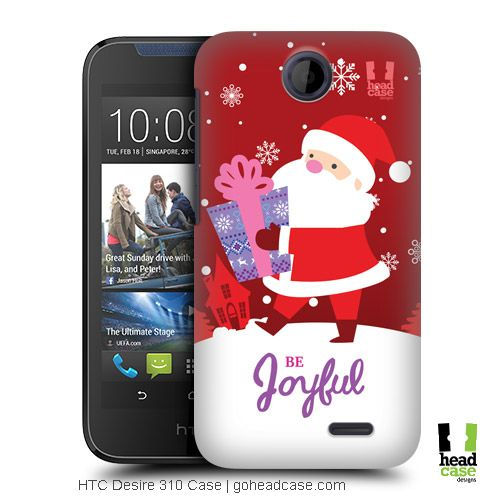 Head Case Designs Santa Christmas Tidings Back Case for HTC Desire 310