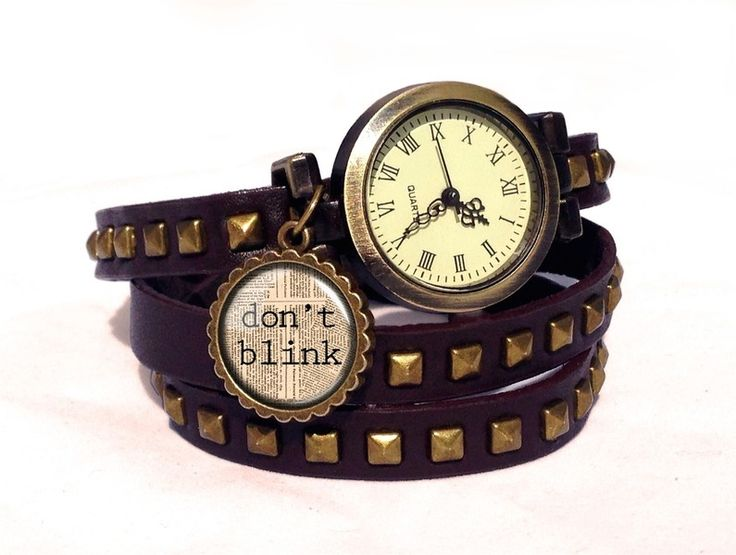 Leather watch bracelet - Doctor Who, 0203WDBC  from EgginEgg by DaWanda.com