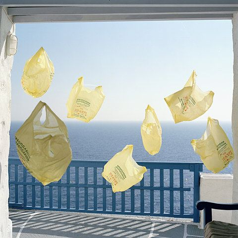 Plastic bags that float on the wind.