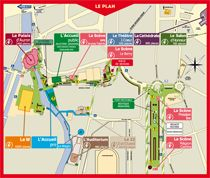 Map of the festival - Le Printemps de Bourges - Next edition from April 22nd to 27th 2014