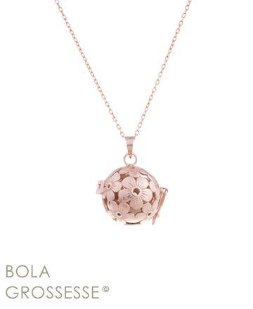 Pendentif bola grossesse or rose Cymosa