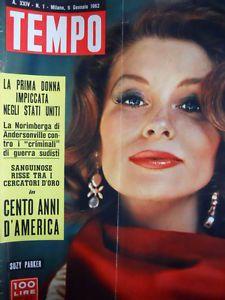 TEMPO-n-1-1962-Suzy-Parker-Rene-Clair-l-039-artigiano-Principessa-Margaret-C86
