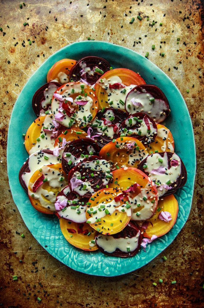 Beet Salad with Tahini Lemon Sauce