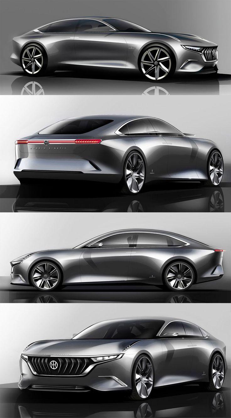 Pininfarina H600 Concept: an electric sedan with an clean, elegant design