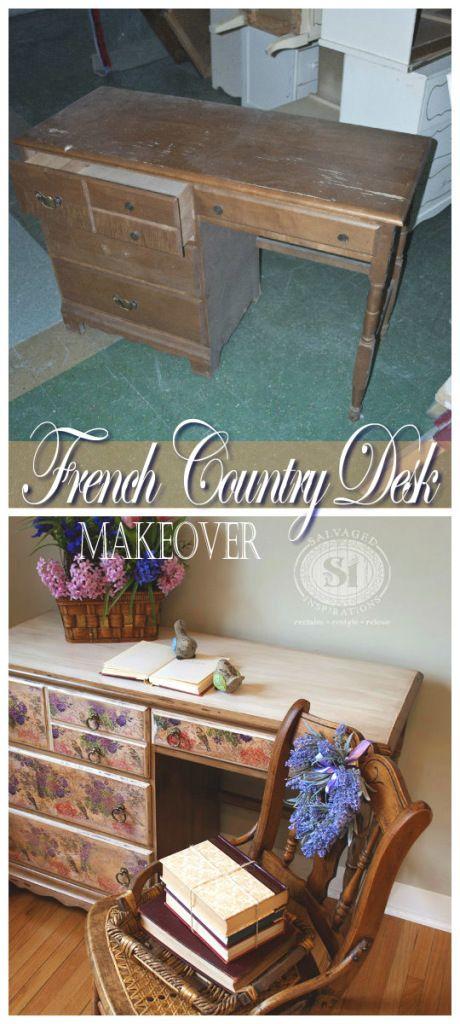 DIY Decoupage Furniture with Napkins  DIY Craft Project  UPCYCLING  Decoupage furniture DIY