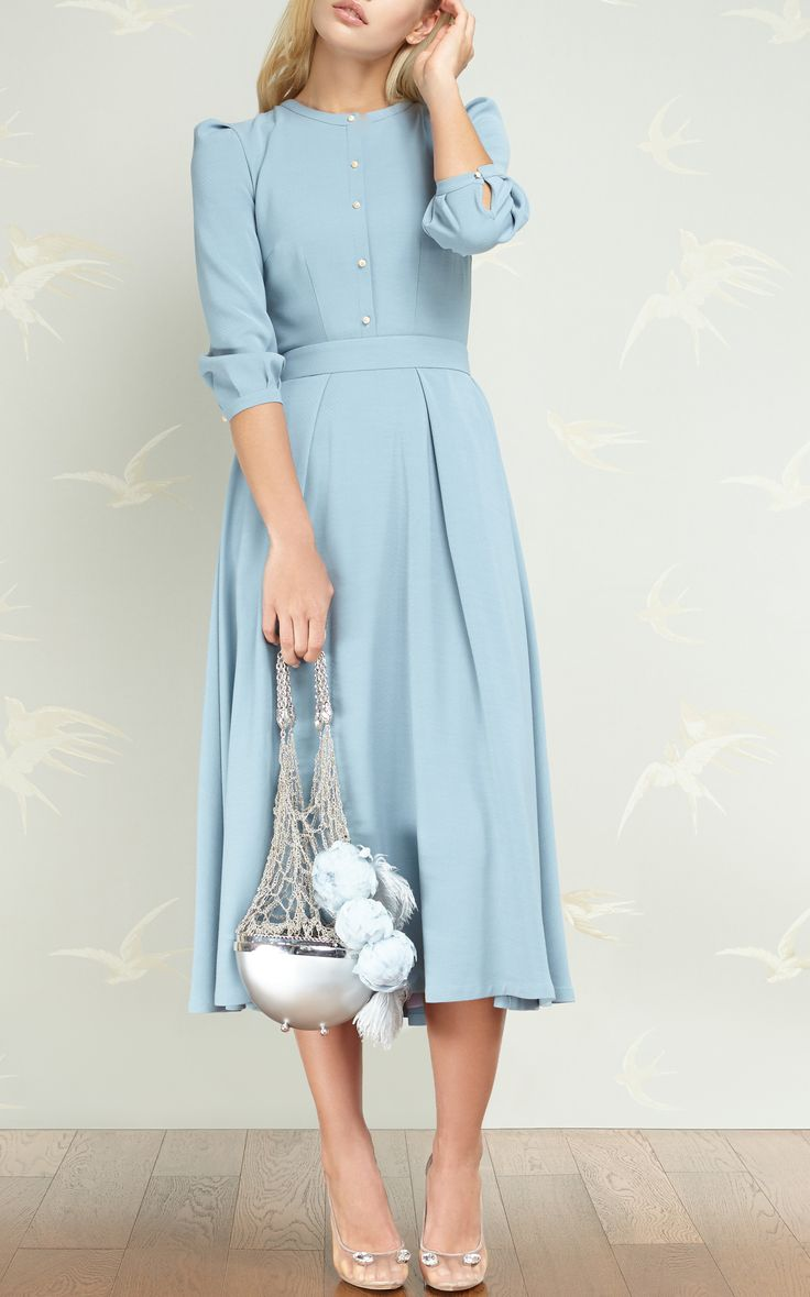 A-Line Midi Dress by ULYANA SERGEENKO DEMI COUTURE for Preorder on Moda Operandi