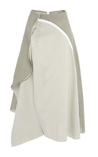 Linen canape skirt by MARNI Now Available on Moda Operandi