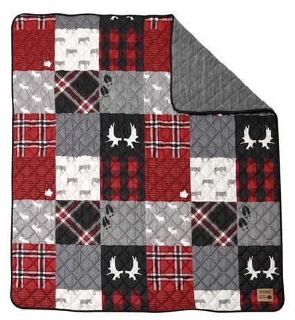 New #Canadiana quilted throw now at Walmart!