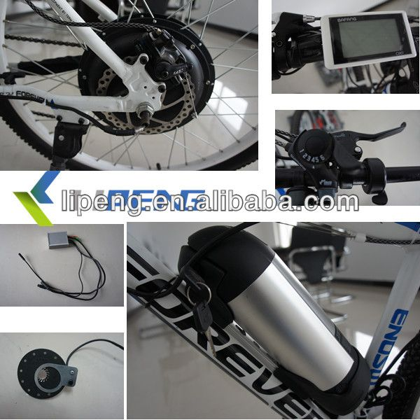 1000w electric bike conversion kit with LCD display/geared hub motor kit /5 minutes diy electric bike kits $290~$400