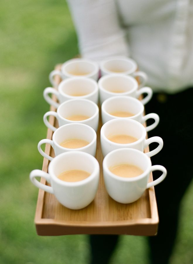 For the coffee lovers: http://www.stylemepretty.com/little-black-book-blog/2016/06/10/montauk-summer-wedding-magic/ | Photography: Heather Waraksa - http://heatherwaraksa.com/