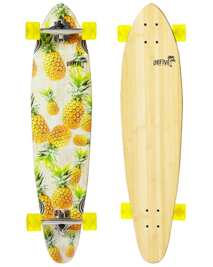 "OBFIVE Pineapple Vibes Longboard 38""  www.livewildbefree.com Cruelty Free Lifestyle & Beauty Blog. Twitter & Instagram @livewild_befree"