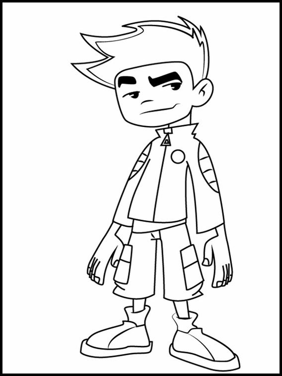 Printable Coloring Pages For Kids American Dragon Jake Long 2