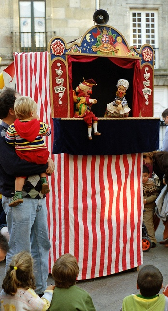 Punch and Judy shows - part of Victorian week at school and a fairly common sight at Covent Garden in the summer.