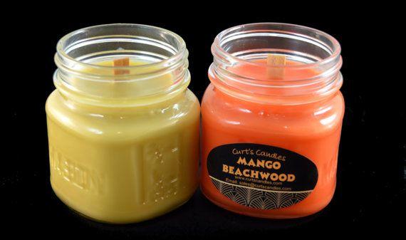 Custom Mason Jar Candles  2 Custom Soy Wooden Wick by CurtsCandles