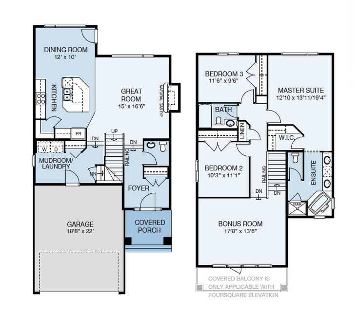 The Devonshire Floor Plan Main Level 881 Sq Feet Upper