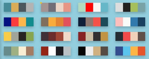 For Designers: Handy, Simple-To-Use Color Palette Database For Inspiration - DesignTAXI.com