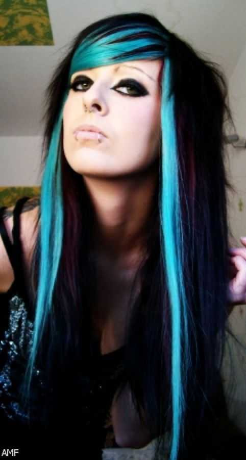 Black Hair Styles Color And Blue Ideas Mwrlmti Long Hairstyle