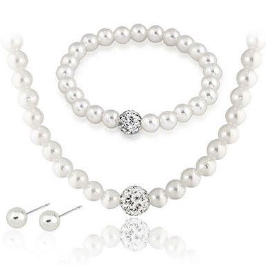Per donna Set di gioielli Bracciali a catena e maglie Fili Collane Collana di perle Circolare Gioielli Perla Di tendenza Elegant Nuziale del 1985665 2017 a €3.91