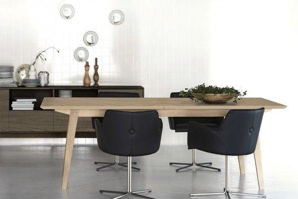 Billede af Flex spisebord med midterudtræk hos BoShop - Spiseborde i ...
