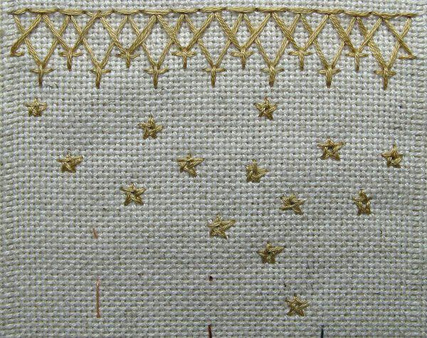 Chevron Stitch and Stars