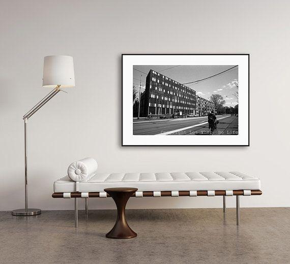 Black & White Street Landscape Photograph Modern by Lettherebelife