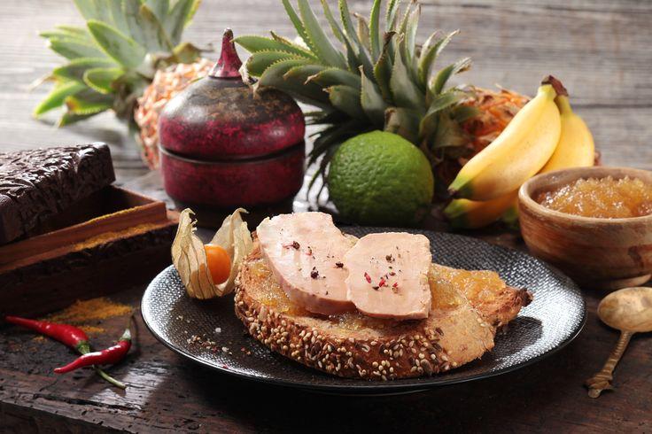 La Tartine de Foie Gras au chutney d'ananas et combawa #foiegras #recettes http://tinyurl.com/o6a7mf5
