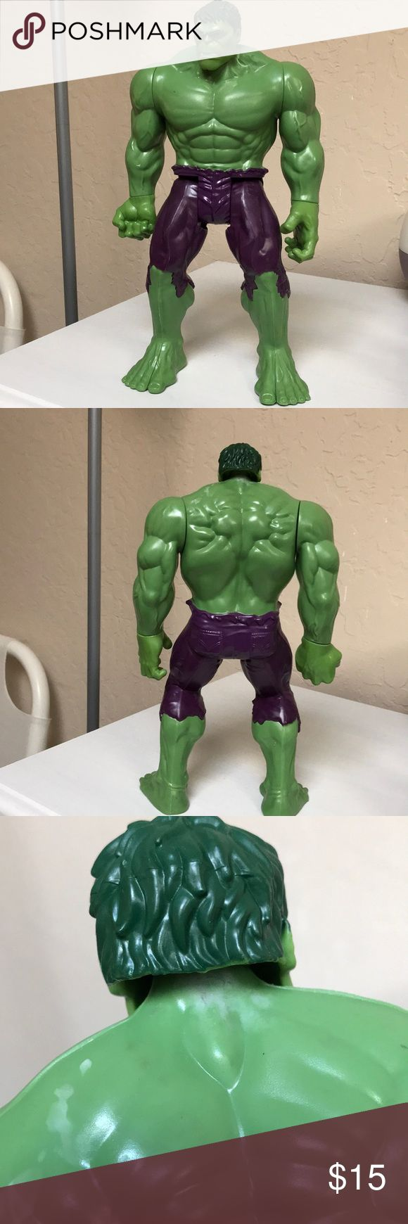 toy :: Hulk Figurine Hulk figurine.  Imperfections are shown in the close ups above.  Good condition. Other