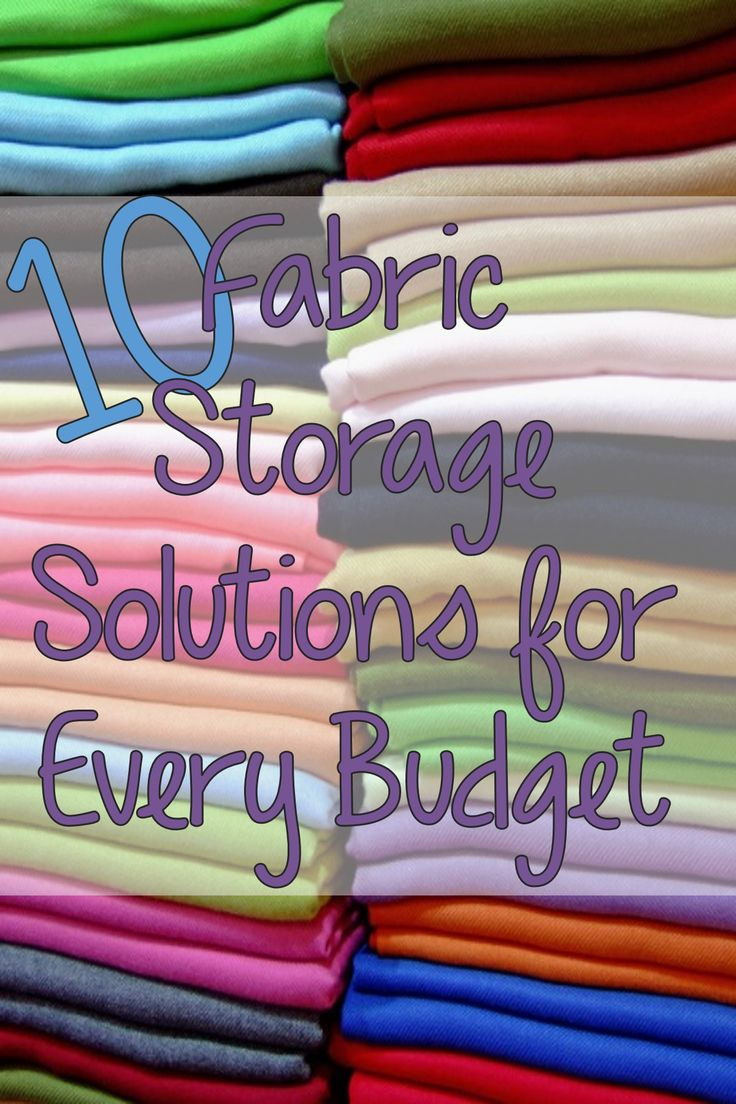 10 Fabric Storage Ideas for All Budgets