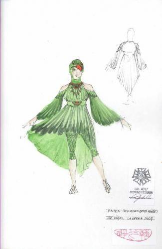 The Birds. LA Opera. Costume design by Linda Cho.
