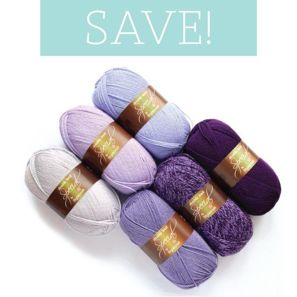 Purple Ombre Bundle. Stylecraft Special DK colour combination